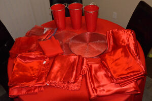 Red Wedding, Party, Anniversary, Canada Day, Linens
