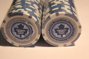 50 Toronto Maple Leafs Pro Poker Chips 11.5g (VIEW OTHER ADS)