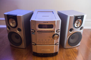 Sony CMT- HPX7 Micro Hi-Fi System 100W Speakers & 5 Disk Changer