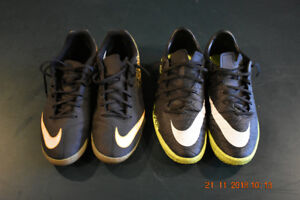 Nike indoor soccer shoes, 2 pairs size 11.5, $50 both