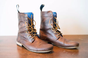 Fleuvog BBC Leather Boots | Sz 12.5 | Brown leather.