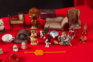 Doll house furnature and minature collection