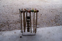 Vintage Croquet with stand on wheels