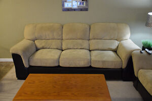 Microsuede couch and love seat