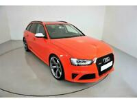 2013 RED AUDI RS4 AVANT 4.2 FSI QUATTRO S TRONIC 444 BHP CAR FINANCE FR £641 PCM