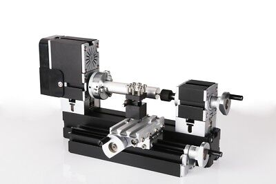 60w High Power Mini Metal Motorized Lathe Metal Woodworking Lathe Machine