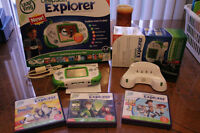 Leapster Explorer ,base charger and 3 additional games for sale
