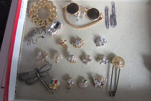 An assortment of pins for $25.00