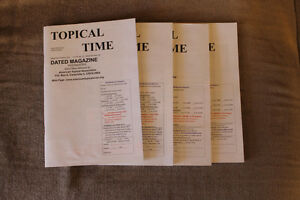 Topical Times back issues - stamp collecting