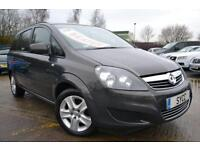 2013 Vauxhall Zafira 1.6i [115] Exclusiv 5dr 7 Seats 5 door MPV