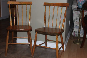 2 Hardwood Solid Kitchen Chairs