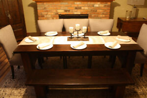 New Reclaimed Solid Barn Wood Harvest Table 6 & 7 foot sizes