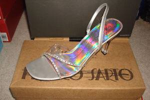 Silver Clear Heels London Ontario image 1