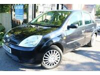 2006 (55 Plate) Ford Fiesta 1.4 STYLE 5 Door Black Long MOT Great First Car