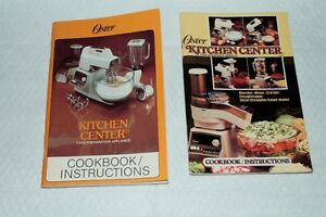 2 Oyster Kitchen Center Cookbooks/Instructions