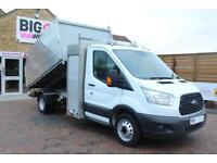 2016 FORD TRANSIT 350 TDCI 125 DRW L3 SINGLE CAB ARBORIST ALLOY TIPPER WITH TOOL