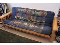 Wooden Futon 3 seat / double bed