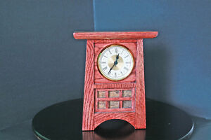 mantel clock solid oak