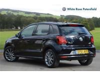2015 Volkswagen Polo SE Design 1.2 TSI 90PS 5-speed Manual 5 Door Petrol black M