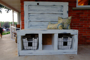 Beautiful unique storage bench using an old door