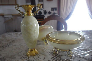 Antique compote and urn set