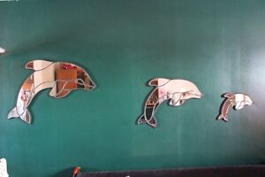 Dolphin Mirrors 3 Piece Hand Made Set (VIEW OTHER ADS)