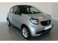 2017 SILVER SMART FORFOUR 1.0 PASSION PETROL 5DR HATCH CAR FINANCE FR £145 PCM