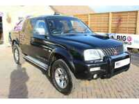 2004 MITSUBISHI L200 TD 4WD LWB WARRIOR DOUBLE CAB WITH ROLL'N'LOCK TOP PICK UP