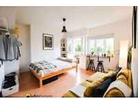 Spacious studio with a separate kitchen and balcony moments from Victoria Park LT REF: 4519125