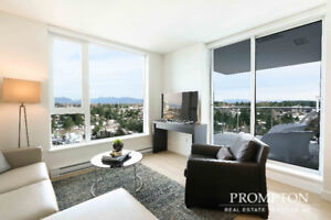 2 Bedroom in Brand New Building. 1 Block to Skytrain Station