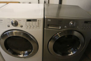 LG Tromm front load washer and dryer pair
