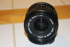 Canon FD 28mm Wide Angle Lens