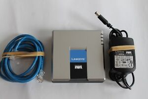 Unlocked Genine Linksys PAP2T-NA VoIP SIP Adapter ATA  Up for sa