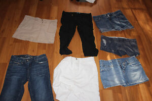 Size 10 Skirt and Shorts 7 piece Lot (AE,Gap)