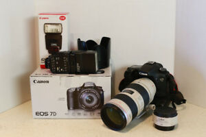 Canon 7D and accessories
