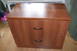 Filing cabinet  two drawer wooden