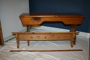Pine Bench plus Wall Shelf with hooks