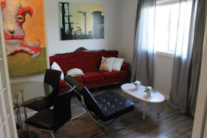 CHIC, CLASSY, FULLY-FURNISHED, ONE-BEDROOM FLAT IN CENTRE YEG