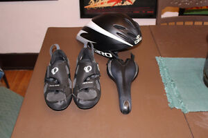 TT TRI Package CASQUE helmet SADDLE Shoes SOULIERS