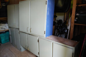 Plywood kitchen cabinets ($50 ea. Or $100 for all 3)