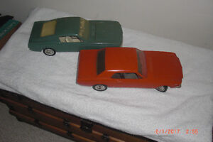 Vintage AMF Wen Mac 1966-67 Ford Mustang Fastbacks Blue and Oran