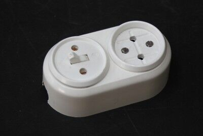 Old Socket Bakelite with Switch Combi Light Switch Exposed Art Deco