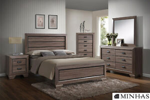 Brand NEW Chester Grey Complete Queen Bed!Call 306-970-3822!