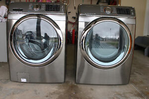 Samsung front load washer and electric dryer pair