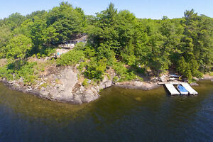 Lake Rosseau: Waterfront Cottage & Bunkie, 287 ft. shoreline