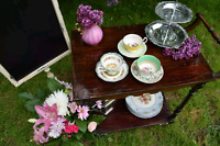 China and vintage furniture and decor rental
