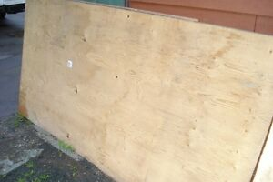 Plywood for sale, 3 full sheets, 9 or 10 half sheets