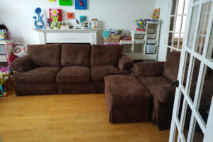 Couch, chair, ottoman for sale - $400