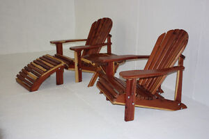 Cedar wood outdoor furniture for patio, deck, front porch, lawn