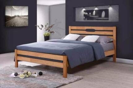 Brand New Oak Timber Queen and Double Bed Frame